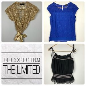 Lot of 3 Tops From THE LIMITED Extra Small XS